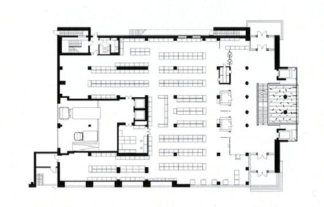 Торговый дом «Домино». План 1-го этажа © А-Б (Арт-Бля)