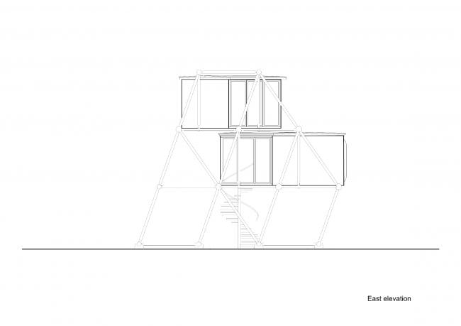 Plugin Tower, проект. Вид с восточной стороны © People's Architecture Office