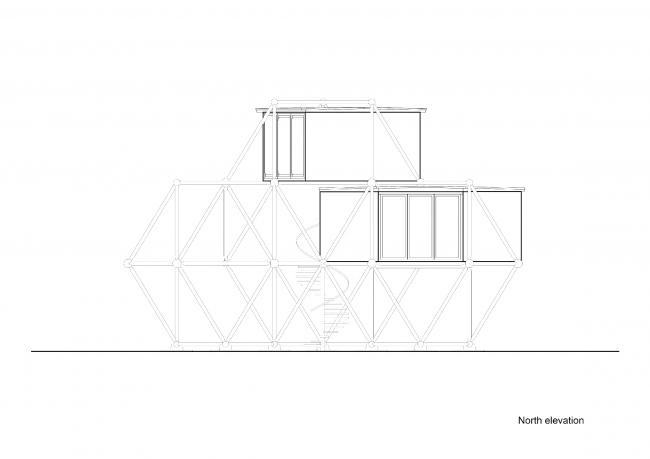 Plugin Tower, проект. Вид с северной стороны © People's Architecture Office