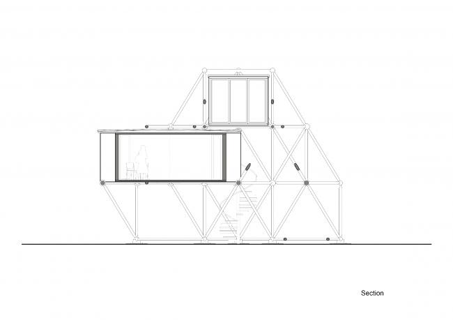 Plugin Tower, проект. Секция © People's Architecture Office