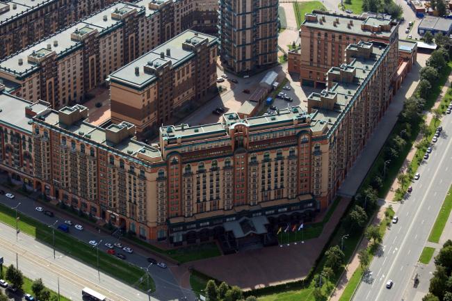 Многофункциональный комплекс «Горный» с высоты птичьего полёта. Фотография предоставлена компанией Славдом