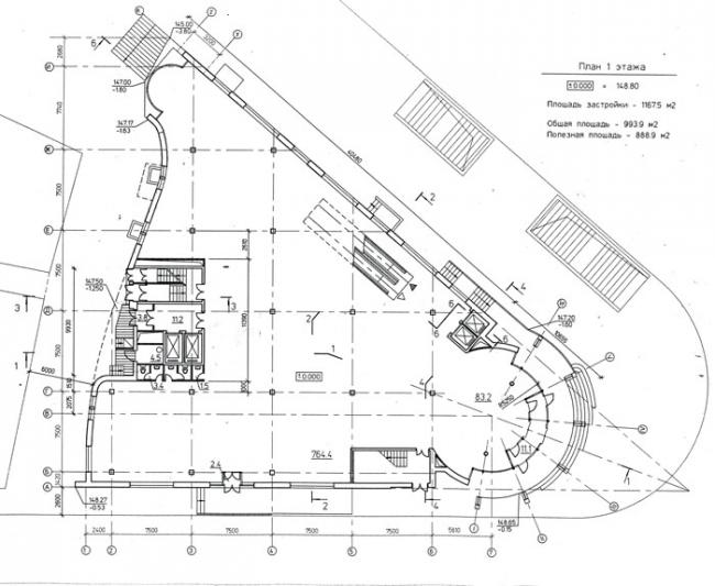 Торговый центр «Наутилус». План 1-го этажа © Архитектурное бюро Воронцова