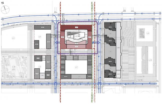 Жилой комплекс ЗИЛАРТ (лот №6). Генеральный план. Проект, 2016 © SPEECH