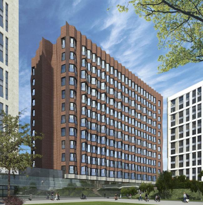 Здание многофункционального жилого комплекса «Садовые кварталы» в Хамовниках