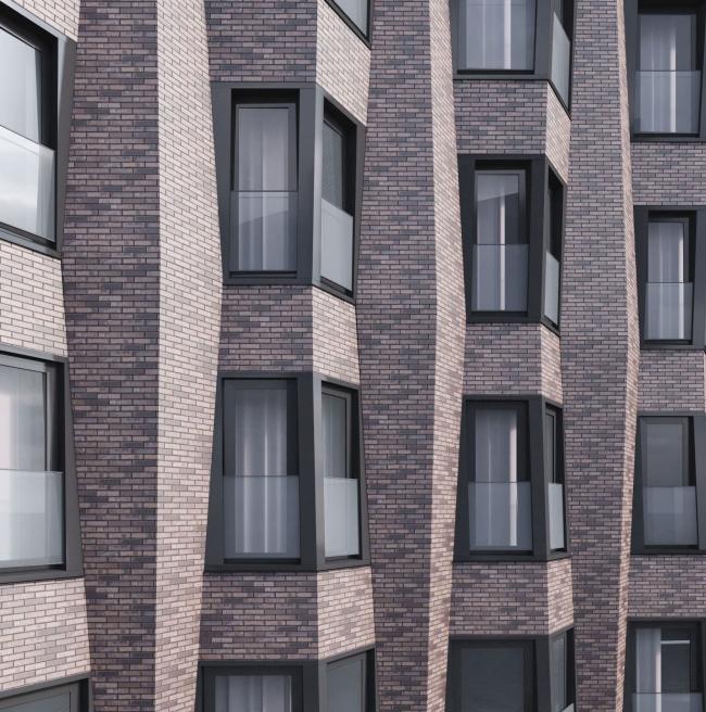 Здание многофункционального жилого комплекса «Садовые кварталы» в Хамовниках. Проект, 2016 © SPEECH