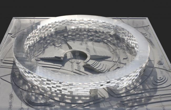 Квартал 01 района D2 инновационного центра «Сколково», 2015. Макет © Архитектурная группа ДНК