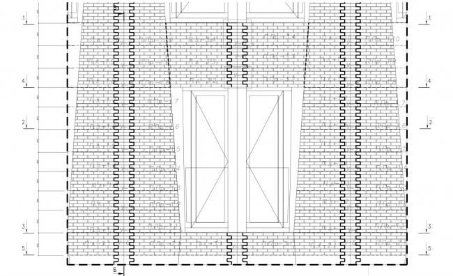 Жилой комплекс ЗИЛАРТ (лот №5). Раскладка панелей на примере «Садовых кварталов» © Архитектурное бюро «Цимайло Ляшенко & Партнеры»