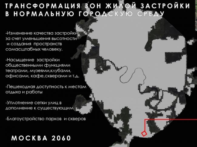 Концепция «Замещение» в рамках проекта «Будущее мегаполиса. Проект Москва». 2010 Московская биеннале архитектуры © ДНК аг
