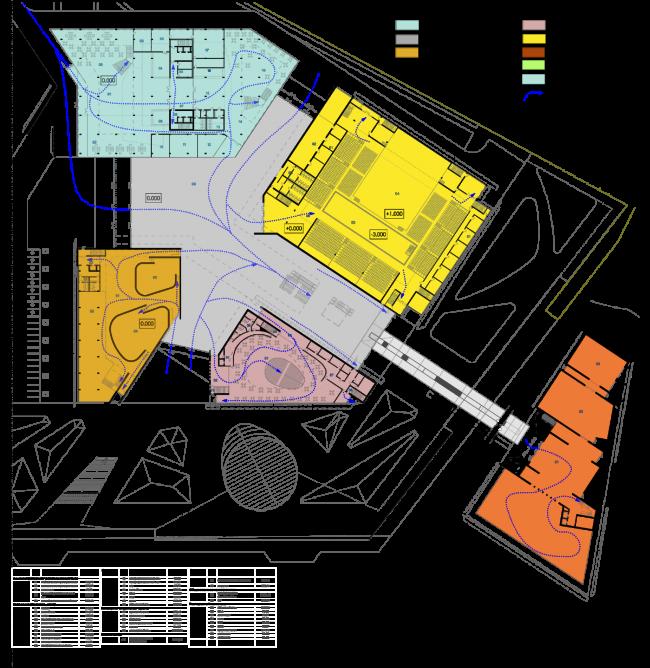 Проект конгресс-центра в Челябинске для конкурса Archchel 2020. План первого этажа © Akhmadullin_Architects