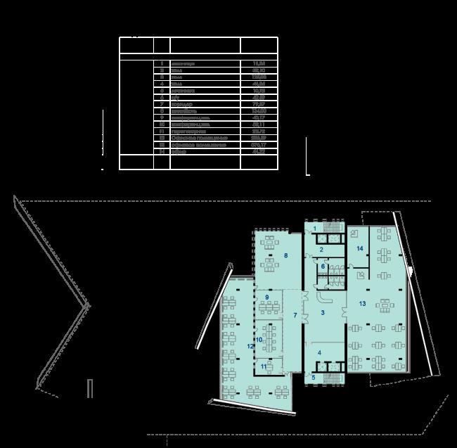 Проект конгресс-центра в Челябинске для конкурса Archchel 2020. План седьмого этажа © Akhmadullin_Architects
