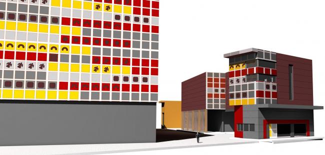 Реконструкция кондитерско-булочного комбината «Простор». Въездная группа. Проект, 2015 © Архстройдизайн