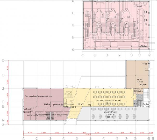 Административно-офисное здание с водогрейный котельной в г. Одинцово. План 1 этажа. Проект, 2015 © Архстройдизайн