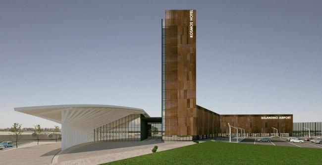 Проект реконструкции аэропорта Челябинска для конкурса Archchel 2020 © Эшер (Челябинск)