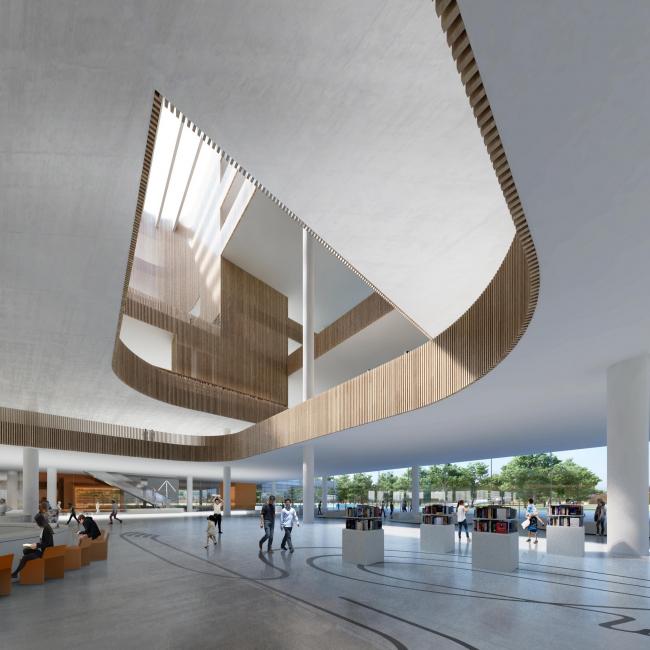 Шанхайская библиотека © Schmidt Hammer Lassen Architects