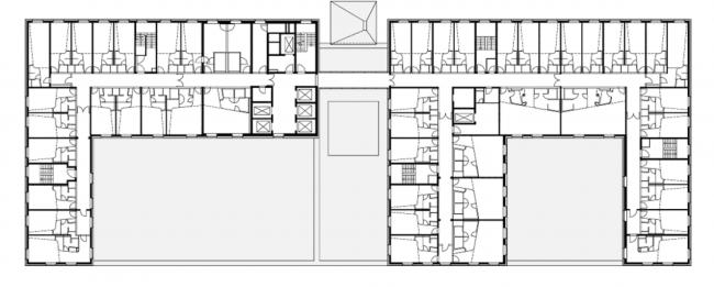 Гостиница nhow Hotel. План 6 этажа © nps tchoban voss