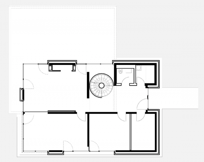 Вилла под Потсдамом. План 1 этажа © nps tchoban voss