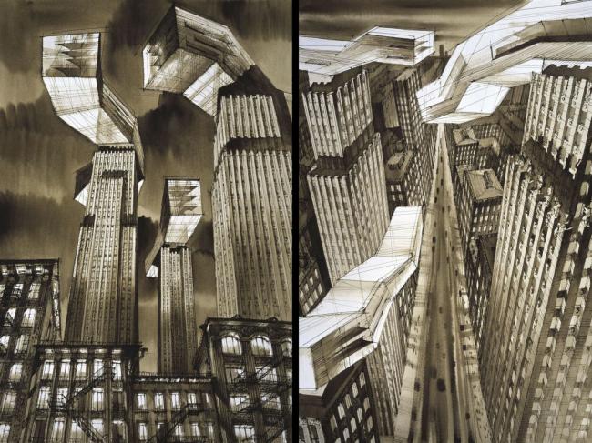 Городские зарисовки Сергея Чобана © nps tchoban voss