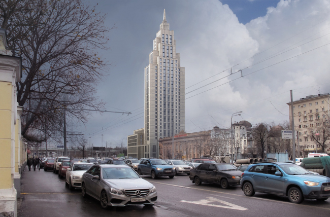 """Multifunctional complex """"Alkon III"""" at the Leningradsky Avenue. Project, 2014 © Evgeny Gerasimov and Partners"""