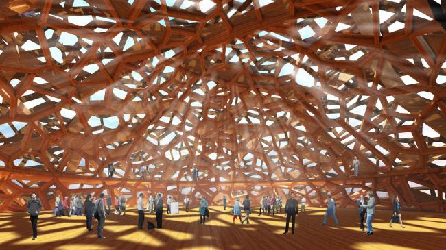 Проект конгресс-центра в Челябинске для конкурса Archchel 2020 © Архитектурная мастерская Тотана Кузембаева