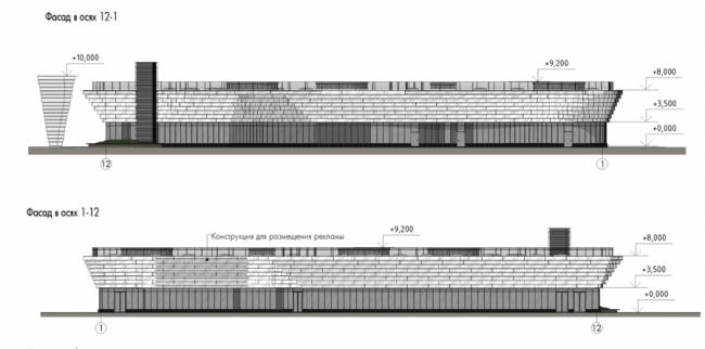 Многофункциональный коммерческий центр на Новоясеневском проспекте. Проектная организация: проектное бюро «Крупный план». Заказчик: «Калужская сельскохозяйственная ярмарка»