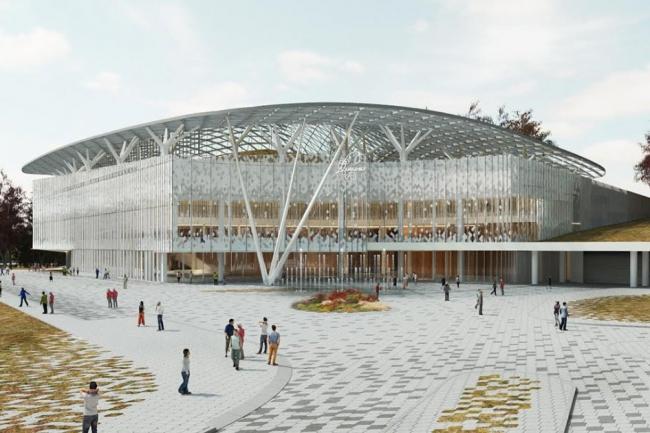 Концертный зал филармонической музыки в парке Зарядье. Проектная организация: ТПО «Резерв». Заказчик: «Мосинжпроект»