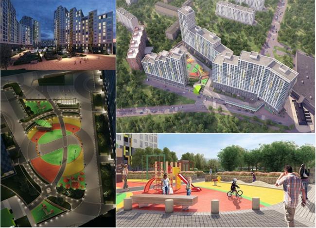 ЖК «Ньютон». Фотография с сайта www.zinco.ru