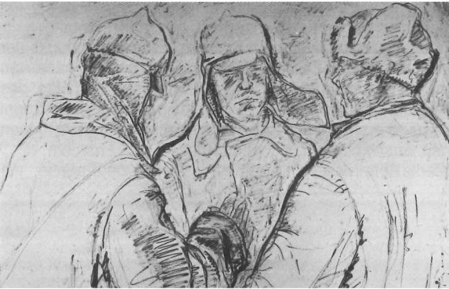 Джузеппе Терраньи. Рисунок «На русском фронте». 1942