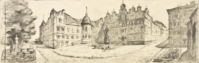 Architectural sketches from the city of Vyborg © Arsen Orekhov