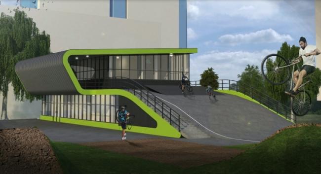 Здание велодрома в Ясенево © ООО «СтройИнженер-Проект»