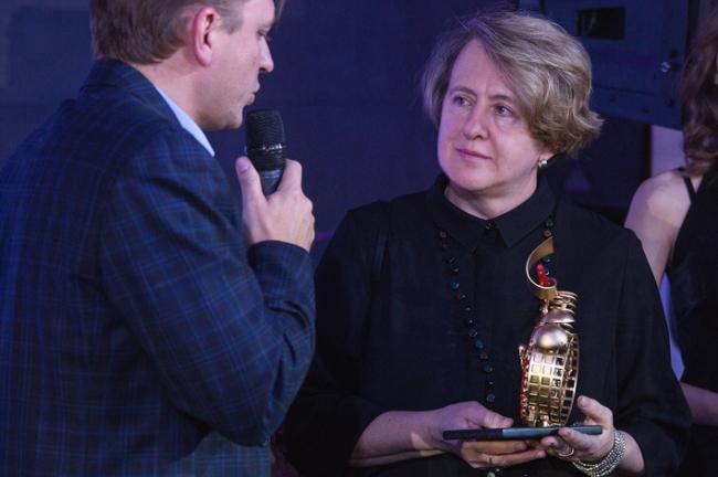 Архитектурный критик Марина Игнатушко на вручении премии «Пробуждение-2016». Фотография Михаила Солунина