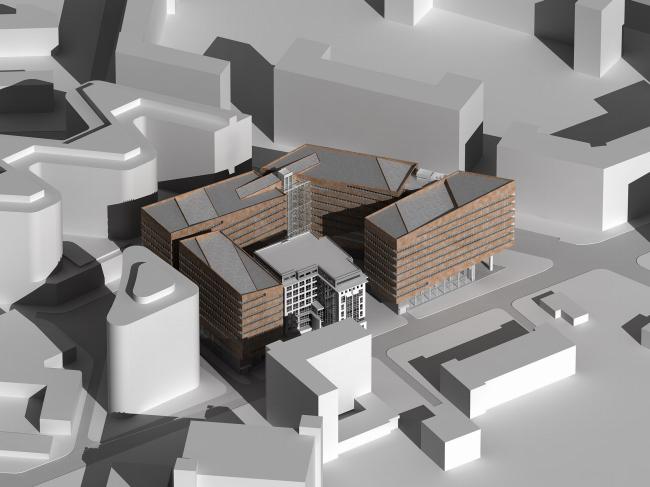 "Архитектурная концепция бизнес-центра ""Можайский вал"""