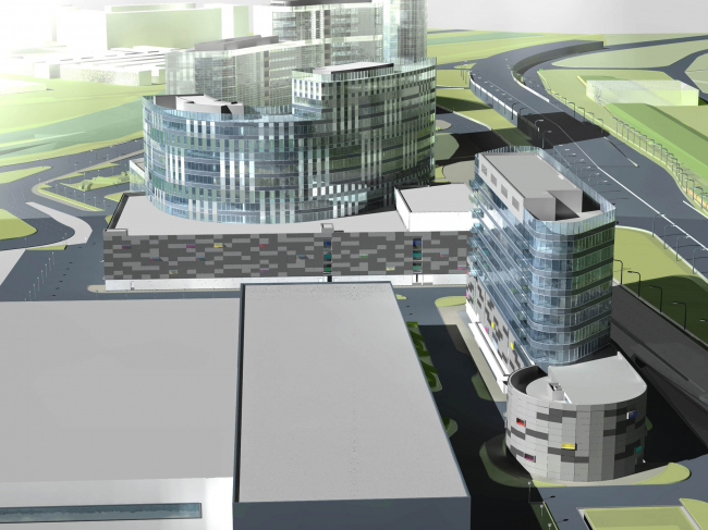 Комплекс зданий и сооружений «Медиа Центр» © ДНК аг
