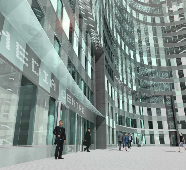 Комплекс зданий и сооружений «Медиа Центр». 5-ый корпус, фрагмент © ДНК аг