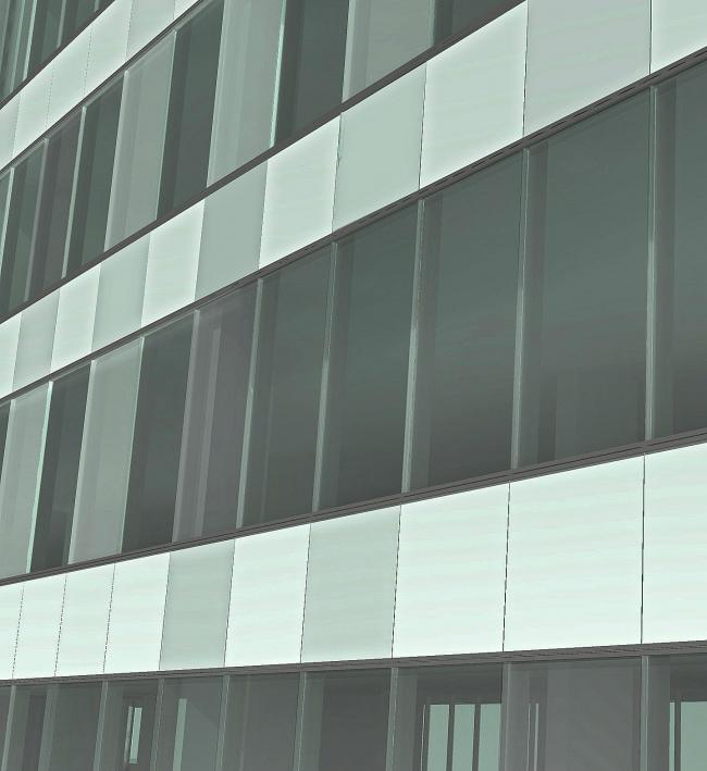 Комплекс зданий и сооружений «Медиа Центр». Деталь фасада © ДНК аг