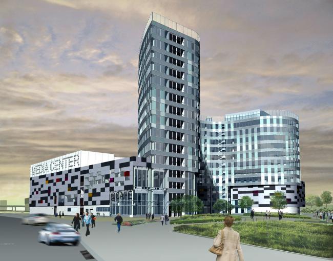 Комплекс зданий и сооружений «Медиа Центр». 5-ый корпус, общий вид © ДНК аг