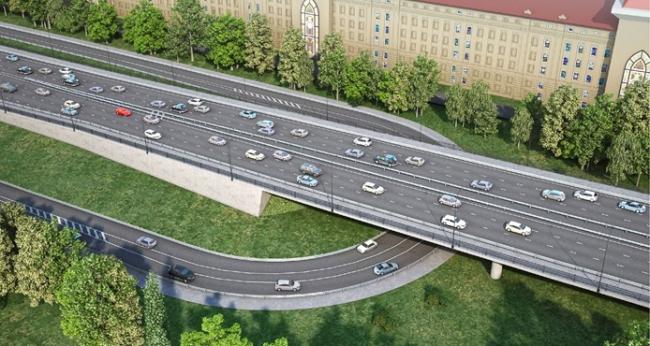 Мост через Кожуховский затон. Проектная организация: ГУП «Моспроект-3»