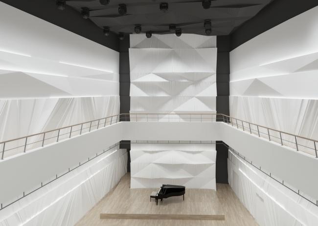 Филармония в парке «Зарядье». Концертный зал. Проект, 2016 © ТПО «Резерв»