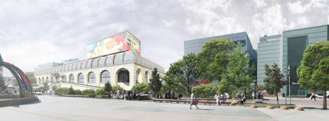 Концепция реконструкции рынка на площади Единства и Согласия в Тюмени © Архстройдизайн АСД