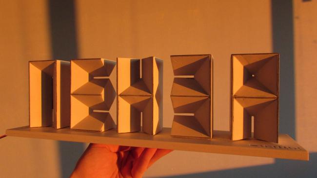 Объемные буквы «Пенза». Макет © Объединение архитекторов «Вещь!»
