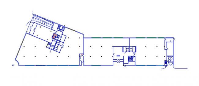 Административное здание на Пятницкой улице. План 1-го этажа © Архитектурная мастерская «Группа АБВ»