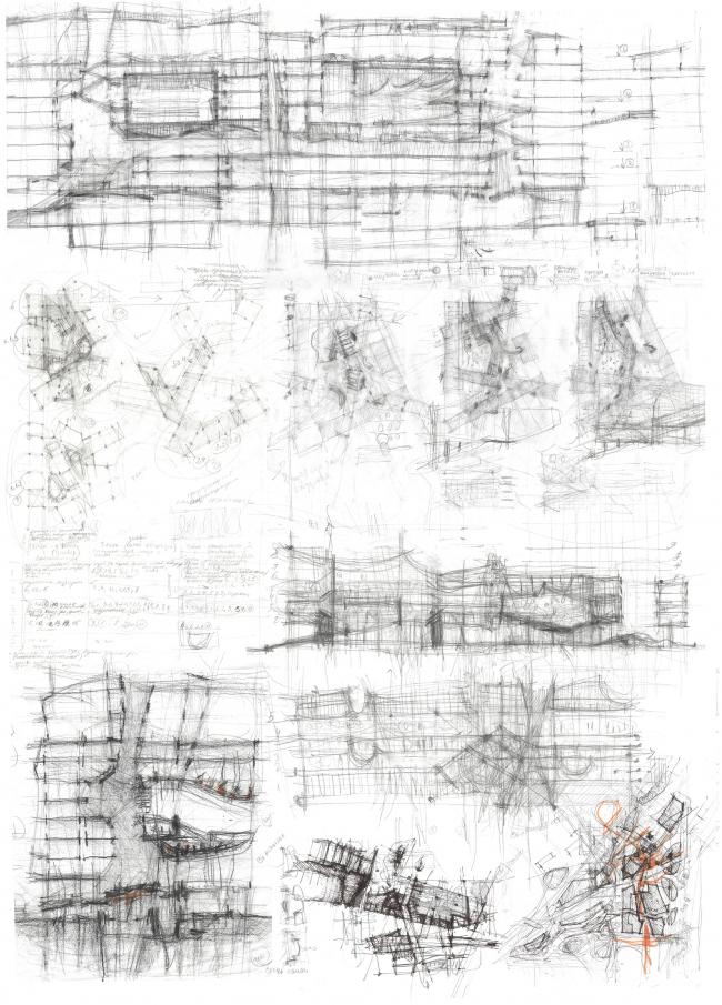 Эскиз. Проект Анны Будниковой «Гидрологический кластер»