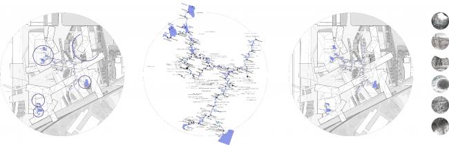 Образ Волги в композиции кластера. Карта геологических объектов. Проект Анны Будниковой «Гидрологический кластер»