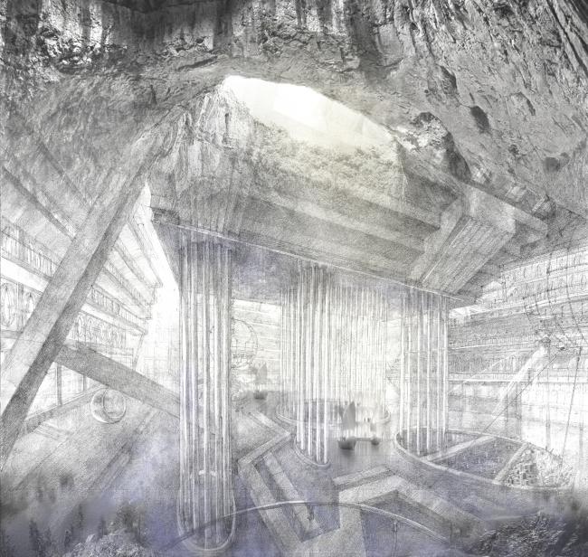 Аллегории природных объектов в интерьере центра гидрологии Волги. Проект Анны Будниковой «Гидрологический кластер»