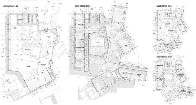 Планы этажей. Центр гидрологии Волги. Проект Анны Будниковой «Гидрологический кластер»