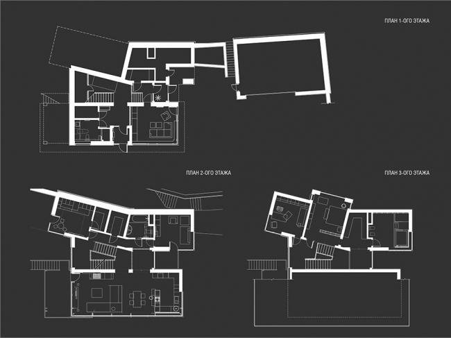 Загородный жилой дом в поселке Красновидово-2 © Гинзбург Архитектс