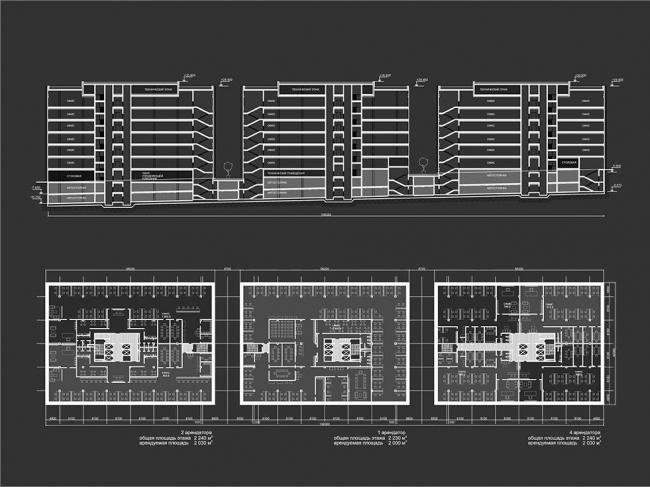 Офисно-торговый комплекс на проспекте Вернадского © Гинзбург Архитектс
