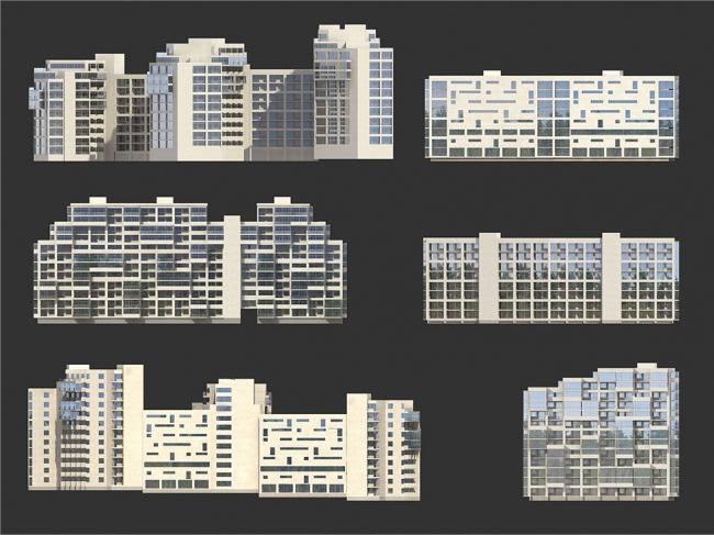 Микрорайон на ул. Луначарского в Геленджике  © Гинзбург Архитектс