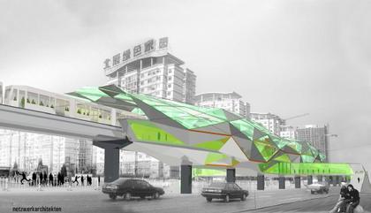 netzwerkarchitekten. Станция Да-Янь-Фань Пекинского метро. Конкурсный проект