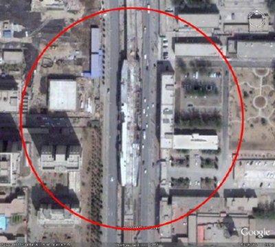 netzwerkarchitekten. Станция Да-Янь-Фань Пекинского метро. Фото со спутника (Google Earth)