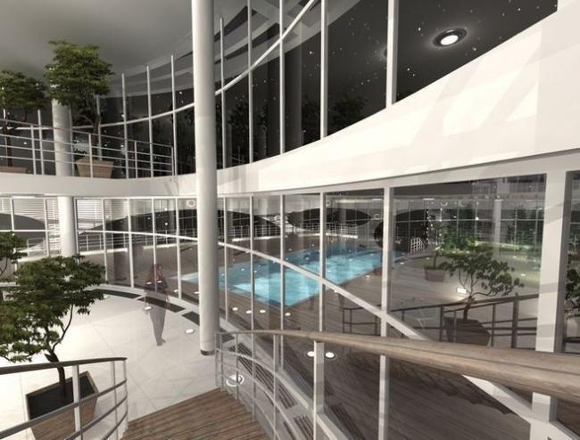 Апарт-отель в Ялте © Архитектурная мастерская Цыцина